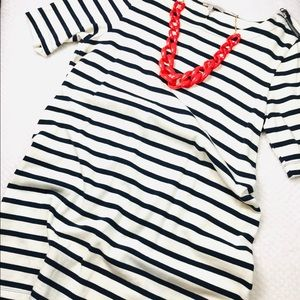 "Gap 100% cotton striped 1/4"" sleeves Sz XL."